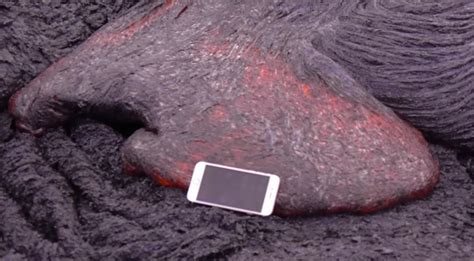 iPhone vs the volcano: Watch what happens when you drop an