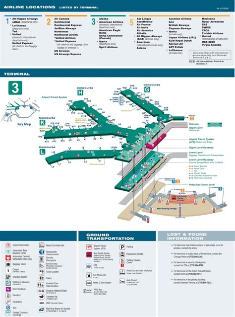 O'Hare Airport terminal 3 map