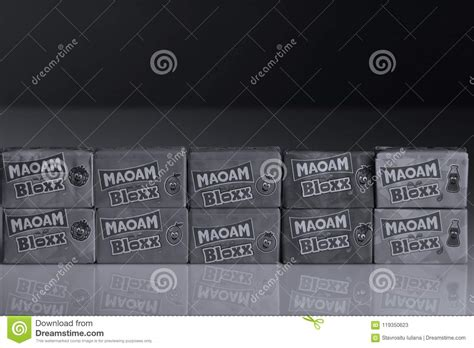 Maoam Bloxx Packs, White Background Editorial Stock Photo