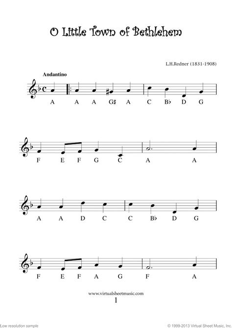 """Very Easy Christmas Clarinet Sheet Music Songs [PDF] """"For"""