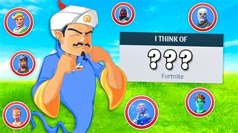 Can the Akinator guess ALL the Fortnite skins? - YouTube