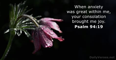 Psalm 94:19 - Bible verse of the day - DailyVerses