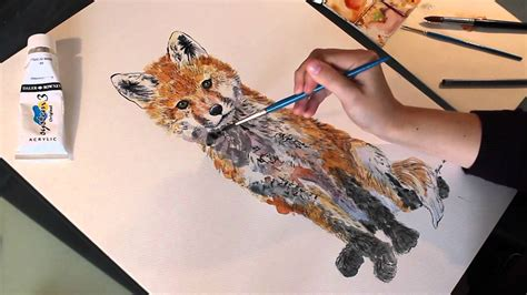 'Ginger' Fox Cub Watercolour Painting Demonstration Time