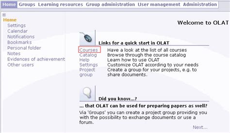 How to Upload a SCORM Course into OLAT LMS